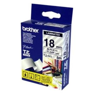 Brother P-Touch Tz-Tape 18mm Siyah-Seffaf 18tz141