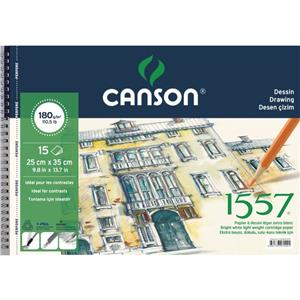 Canson 1557 Çizim Blok Spralli 180 Gr 15sf