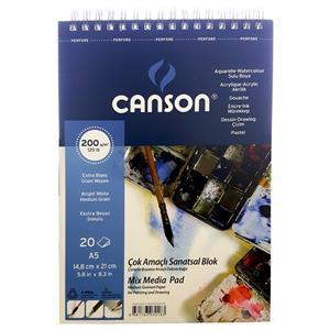 Canson A5 Çok Amaçlı Resim Blok 20sf FCNS20020A5US