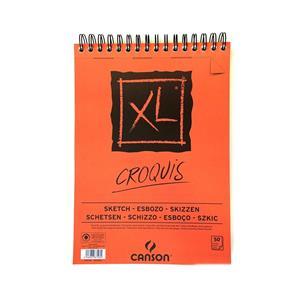 Canson Croquis Xl Albüm 90 Gr Üstten Spiralli A5