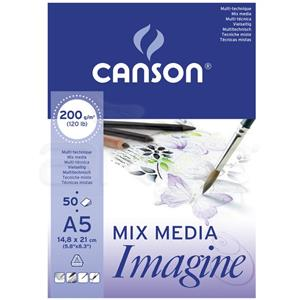 Canson Mix Media A5 Suluboya Blogu 200gr/50syf