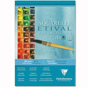 Clairefontaine Etival Sulu Boya Blok A5 200gr
