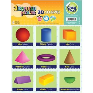 Crea İng-TR Etiket- Geometrik-3D Şekiller 1137
