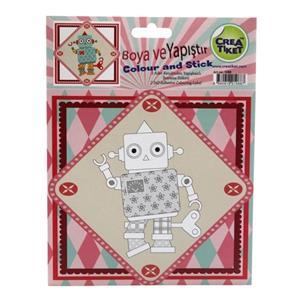 Crea Robot Boya Ve Yapistir Etiket No:1088