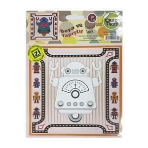 Crea Robotkid Boya Ve Yapistir Etiket No:1089