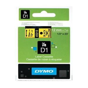 Dymo D1 Serit 12mmx7mt Sari/Siyah 45018 S0720580