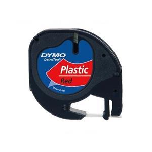 Dymo Letratag Plastikserit 12mmx4mt Kirmizi 721630