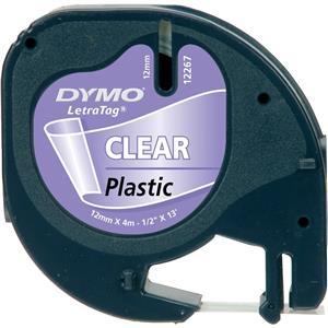 Dymo Letratag Plastikserit 12mmx4mt Seffaf 12268