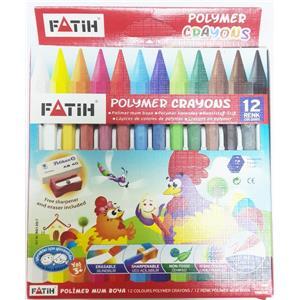 Fatih Polymer Crayon Mum Boya 12 Renk Uzun