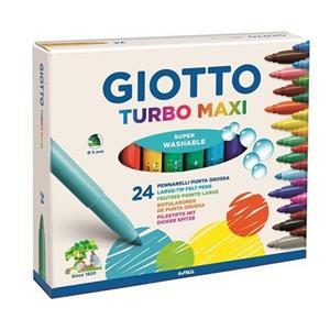 Giotto Turbo Maxı Keçeli Boya Kalemi 24lü 455000