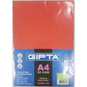 Gipta Power-100 A4 Renkli Kagit 100lük Paket (10x