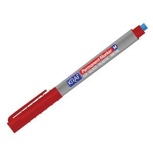 Kraf 260 Cd/Dvd Asetat Kalemi Silgili (M) Kırmızı
