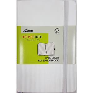 Lecolor Recnote 13x21 Lastiklidefter Çizgili Beyaz