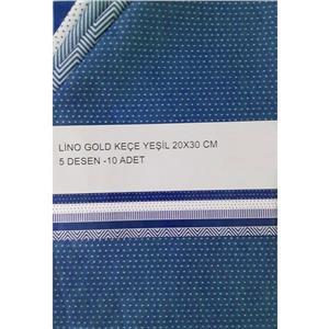Lino Gold Keçe 20x30cm 5 Desen 10lu Mavi