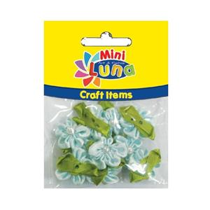 Luna Mini Craft Items Fabric Flowers 23mm 10parça