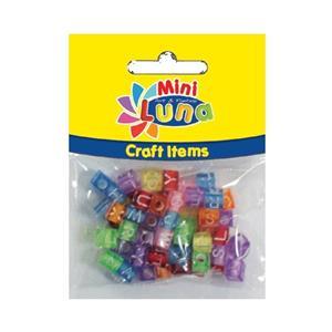 Luna Minicraft Items Pls.Beads 12gr Pls.Rope 30cm