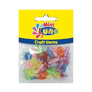 Luna Minicraft Items Pls.Beads 15gr Pls.Rope 30cm