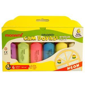 Monami Cam Boyasi 6 Renk Neon Sökülebilir Mcbn06