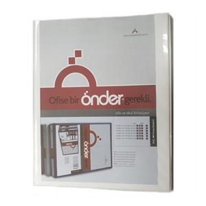 Önder Firma Klasörü 3cm 4halkali Beyaz 2013-5