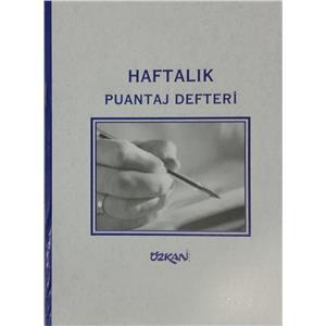 Özkan Haftalik Puantaj Defteri G0337