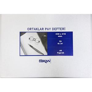 Özkan Ortaklar Pay Defteri 40yp G0540