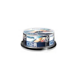 Philips Cd-R 52x 700mb 80dk 25li Cakebox Dr4s6b25f