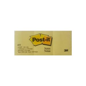 Post-It 34,9x47,6mm Notkagdi Kanarya Sarısı 653-N3