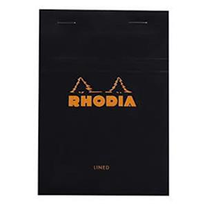 Rhodia 110x170 Çizgili Bloknot Siyah Kapak 146009