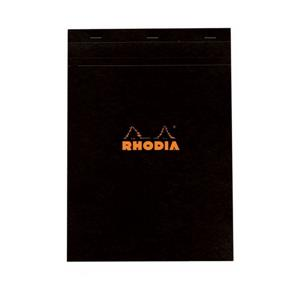 Rhodia A4 Çizgili Bloknot Siyah Kapak 186009