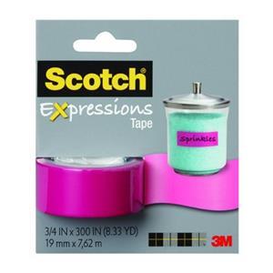 Scotch 19mmx7.62mt Renkli Bant Pembe C214-Pnk
