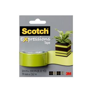 Scotch 19mmx7.62mt Renkli Bant Yesil C214-Grn
