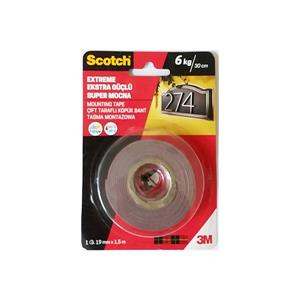 Scotch Extra Güçlü Montaj Bandi 1.5mt 19mm 4002
