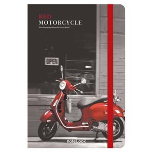 Scrikss Red Motorcycle A5 100 Yp. Çizgili Defter