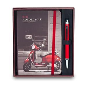Scrikss Red Motorcycle ÇizgA6+Smartpen Tük Kırmızı