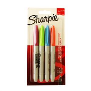 Sharpie Fine Permanent Markör 4lü S1985859