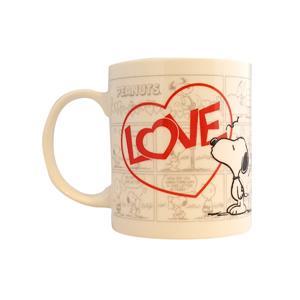 Snoopy Kupa Bardak Love Kalpli Kupa01
