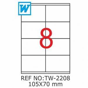 Tanex 105x70mm Laser Etiket Tw-2208