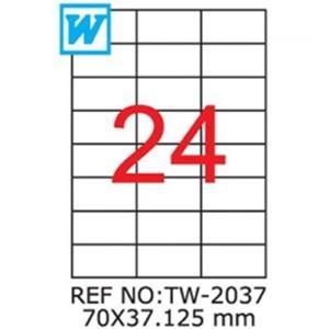 Tanex 70x37.125mm Laser Etiket Tw-2037
