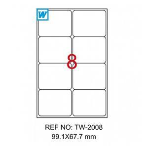 Tanex 99.1x67.7mm Laser Etiket Tw-2008