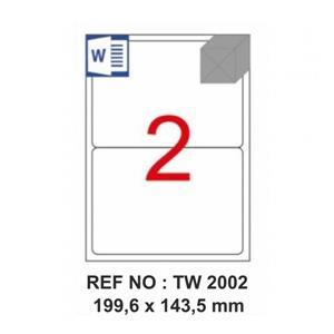 Tanex Tw-2002 199.6x143.5mm Laser Etiket