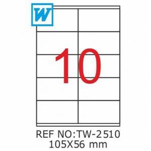 Tanex Tw-2510 105 X 56 Mm Laser Etiket