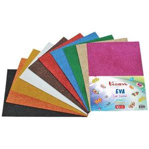 Ticon Karışık Renk Simli Yapış.Eva 10 Adet 20x30