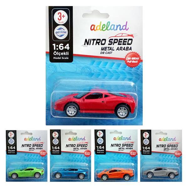 Adeland Nitro Speed 1:64 Çek Bırak Araba 12000